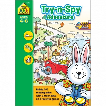 TRY-N-SPY ADVENTURE, Ages 4-6, 32 pages