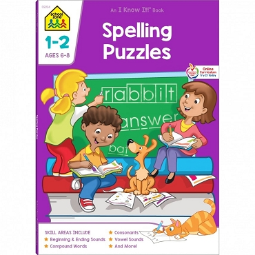 I KNOW IT! SPELLING PUZZLES Grades 1-2, Ages 6-8, 64 pages