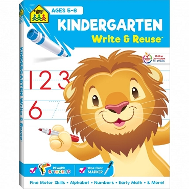 WRITE & REUSE: KINDERGARTEN, Ages 5-6, 52 pages