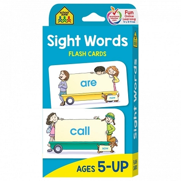 FLASH CARDS: SIGHT WORDS, Ages 5+