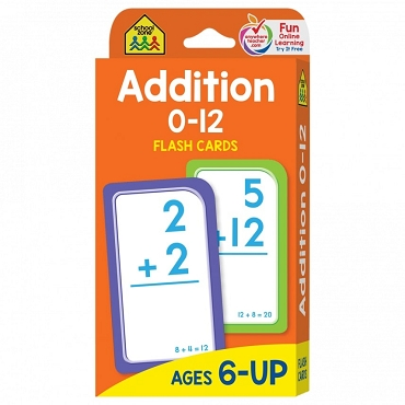 FLASH CARDS: ADDITION 0-12 Age 6+