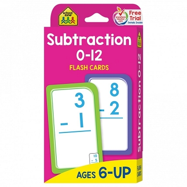 FLASH CARDS: SUBTRACTION 0-12 Age 6+