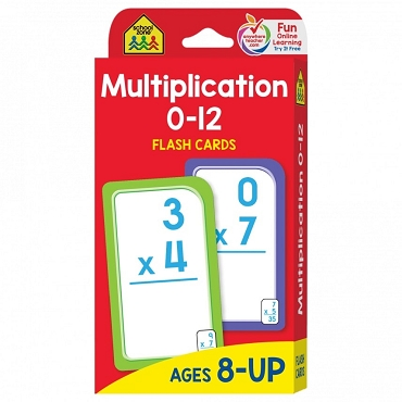 FLASH CARDS: MULTIPLICATION 0-12 Age 8+