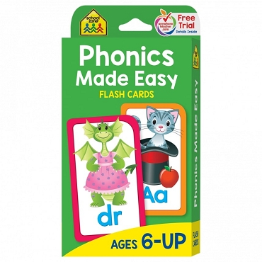 FLASH CARDS: PHONICS MADE EASY, Ages 6+