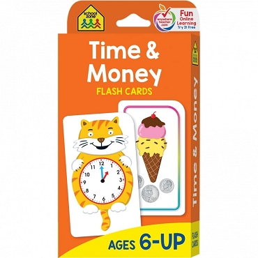 FLASH CARDS: TIME & MONEY Ages 6+
