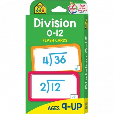 FLASH CARDS: DIVISION 0-12 Age 9+