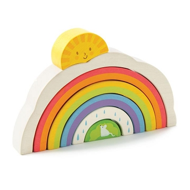 WOOD RAINBOW TUNNEL 7pc STACKING SET