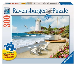 RAVENSBURGER: SUNLIT SHORES 300pc Lrg Pc