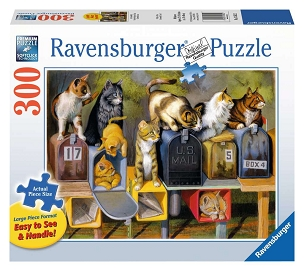 RAVENSBURGER: CAT'S GOT MAIL 300pc Lrg Pc