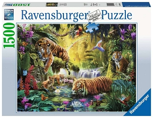 RAVENSBURGER: TRANQUIL TIGERS 1500pc