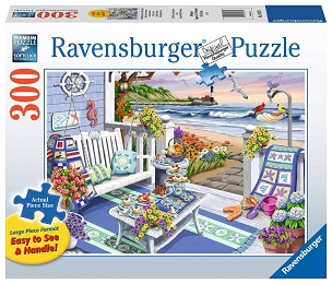 RAVENSBURGER: SEASIDE SUNSHINE 300pc Lrg Pc