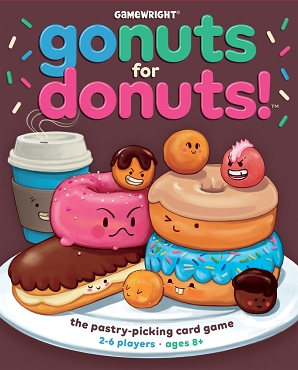 GAMEWRIGHT: GO NUTS FOR DONUTS </br>Age 8+ | 2-6 Players