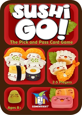 GAMEWRIGHT: SUSHI GO </br>Age 8+ | 2-5 Players