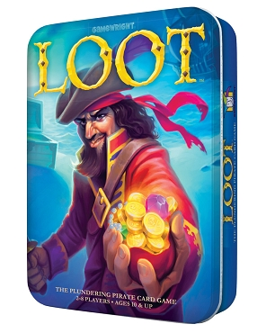 GAMEWRIGHT: LOOT in TIN </br>Age 10+ | 2-8 Players