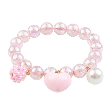 GREAT PRETENDERS: PINK HEART BOBBLE BRACELET 84083