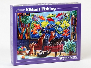 VERMONT CHRISTMAS COMPANY: KITTENS FISHING 550pc