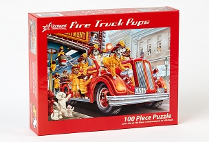 VERMONT CHRISTMAS COMPANY: FIRE TRUCK PUPS 100pc