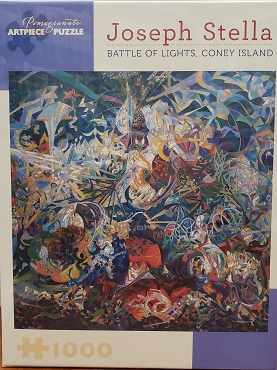 POMEGRANATE: BATTLE OF LIGHTS, CONEY ISLAND by J. STELLA 1000pc